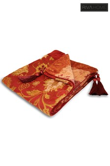 Zurich Floral Jacquard Throw by Riva Home