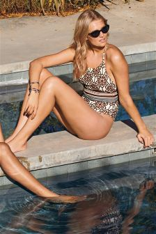 Tile Print Swimsuit