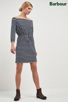 Barbour® Navy Stripe Bardot Waveson Dress