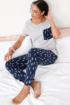 Cotton Blend Short Sleeve Pyjamas