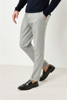 Stripe Nep Skinny Fit Suit: Trousers