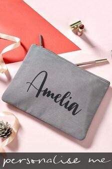 Personalised Large Velvet Cosmetic Bag