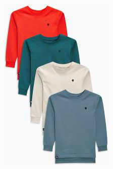 Long Sleeve T-Shirts Four Pack (3-16yrs)