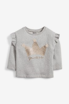 Embellished Long Sleeve Top (3mths-7yrs)