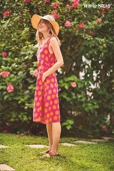 White Stuff Pink Elim Print Dress