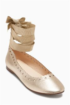 Star Cut Out Ballet Shoes (Older)