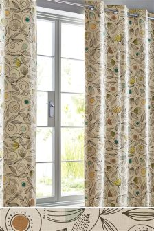 Blake Floral Eyelet Curtains
