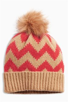 Chevron Pom Hat