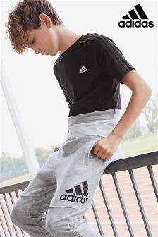 adidas Black/White Colourblock Tee