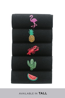 Summer Embroidered Socks Five Pack