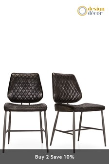 Set Of 2 Carson Dining Chairs By Baker Furniture