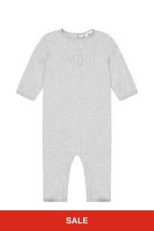 Bonpoint Baby Grey Cotton Romper