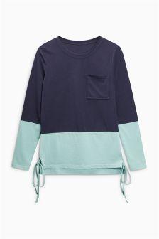 Colourblock Long Sleeve Top