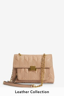 Leather Small Quilted Bag