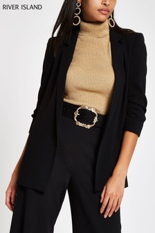 River Island Black Soft Blazer