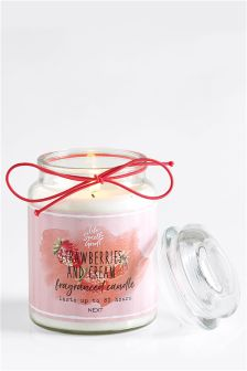 Strawberries & Cream Large Jar Candle