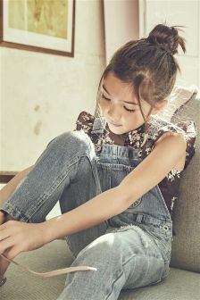 Distressed Dungarees (3-16yrs)