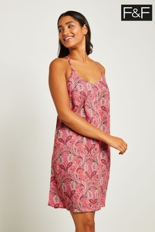 F&F Coral Paisley Beach Dress