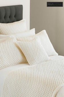 Charroux Quilted Embellished Cushion by Riva Home