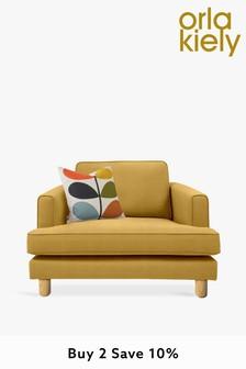 Orla Kiely Willow Snuggle Sofa with Oak Feet