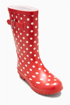 Polka Dot Wellies (Older)