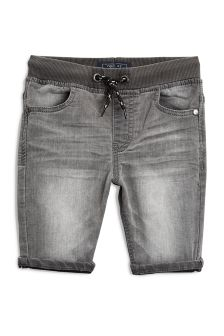 Rib Waist Jersey Denim Shorts (3-16yrs)