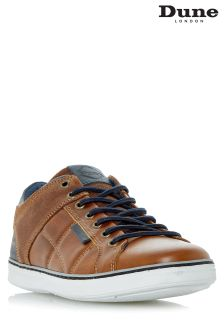 Dune Brown Tobey Casual Cup Sole Sneaker