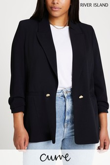 River Island Plus Black E2E Soft Blazer