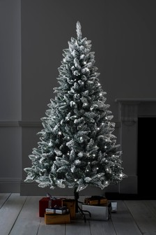 250 led vermont snowy 6ft christmas tree - Pictures Of Pretty Decorated Christmas Trees