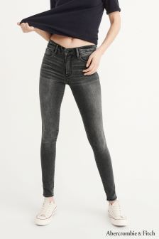 Abercrombie & Fitch Washed Black Skinny Jean