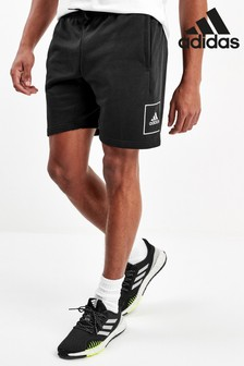 adidas Must Have Black 3 Stripe Tape Shorts