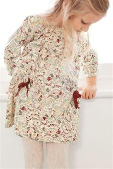 碎花长袖连衣裙 (3个月-6岁)