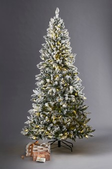 300 led vermont snowy 7ft christmas tree - Lime Green And Blue Christmas Decorations