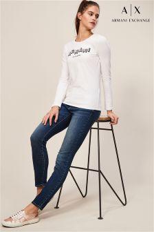 Armani Exchange Mid Wash J01 Skinny Jean