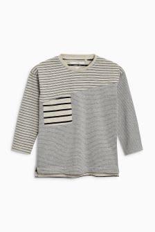 Long Sleeve Spliced T-Shirt (3mths-6yrs)