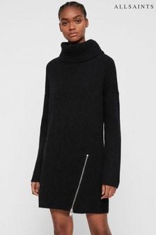 Vestido estilo suéter negro Claudette de AllSaints