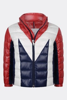 Boys Red Down Padded Rurutu Jacket