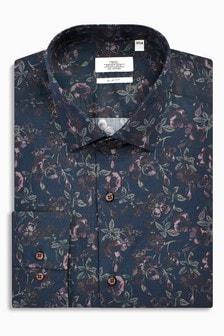 Зауженная рубашка с цветочным рисунком