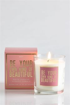 White Jasmine Boxed Sentiment Candle