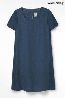 White Stuff Blue Linen Dress