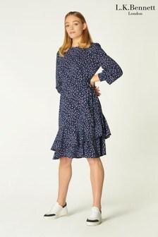 L.K.Bennett Blue Filippa Dress