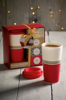 Reusable Coffee Mug Gift Set