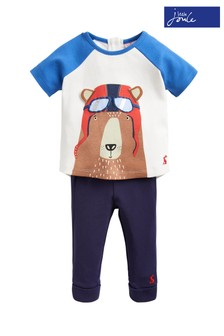 Joules Blue Mack Appliqué Trouser Set