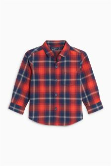Check Brushed Long Sleeve Shirt (3mths-6yrs)