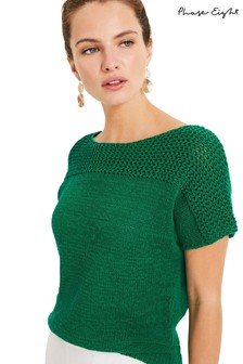 Phase Eight Green Cecilia Knit Top
