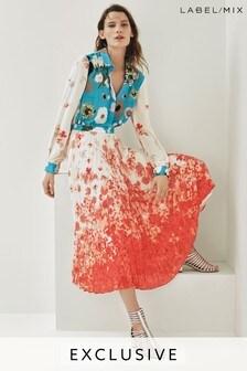 Mix/Teatum Jones Print Pleat Shirt Dress