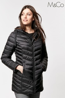 M&Co Black Short Padded Jacket