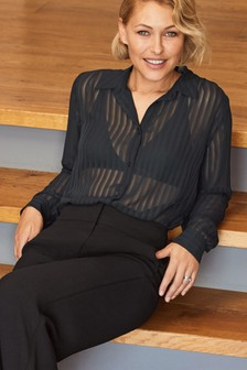 Emma Willis Sheer Stripe Shirt