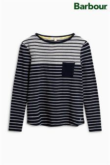 Barbour® Selsey Navy/Grey Stripe Top