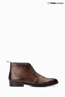 Base London® Brown Falco Lace-Up Chukka Boots
